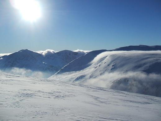 Cairngorms winter mountains Scotland